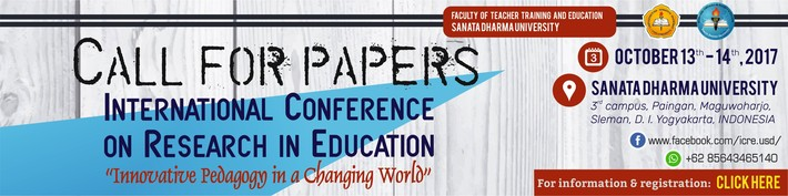 International Conference of Research in Education :: usd.ac.id